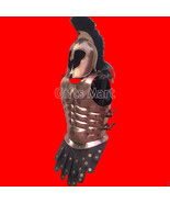 Medieval Armour Suit of Armor Royal Muscle Cuirass Breastplate Troy Helm... - $244.99