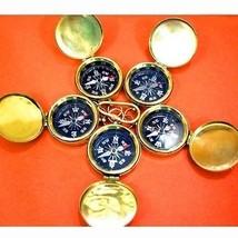 Antique Nautical Pocket Compass 5 Unit Solid Brass Polished  Pocket  Gif... - $58.79