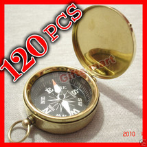 Brass Compass with Lid,Pirate Nautical Keychain Compass Wholesale of LOT... - $367.49
