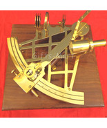 """Large Brass Sextant 10"""" w/ Wooden Case Nautical Maritime Astrolabe Boat ... - $87.22"""