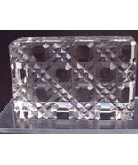 Hand Cut Glass paperweight, DEEP CUT 24% lead crystal - $45.82