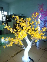 4 Ft Christmas New year decor Light LED Crystal Cherry Blossom Tree Yellow - $219.00
