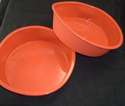 "Cake Pan 9"" Round-2 1/2"" Deep Set of 2 Silicone Bakeware Red, New - $371,73 MXN"