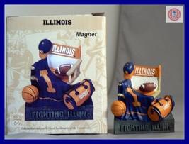 Fighting Illiniois Football Basketball 3 D Magnet - $12.89