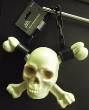 Skull and Crossbones Hanging Halloween Decoration Plastic Skeleton Pirate - $8.00