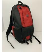 Lowepro Backpack Fastpack 100 Red Black DSLR Camera Lots Of Pockets Exce... - $26.68