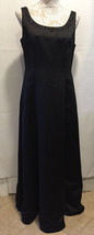 David's Bridal Full Length Formal Beaded Neck Long Black Maxi Gown Dress... - $71.99