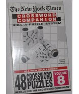 The New York Times Crossword Companion Roll-A-Puzzle Refill Volume 8 Sealed - $10.00