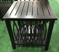 Patio end table Outdoor side accent square aluminum pool furniture. image 2