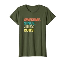 Brother Shirts - Awesome Since July 2003 Shirt Fun 15th Birthday Gift Wowen - $19.95+