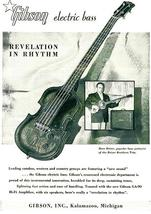 1955 Gibson EB-1 Electric Bass Guitar - Promotional Advertising Poster - $9.99+