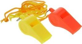 100 Plastic Whistles Lanyard Emergency Survival Prepper Safety Boat Mari... - $37.90