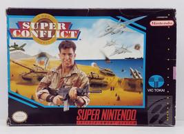 Super Conflict Super Nintendo SNES Box Only Original 1993 Box - $8.99