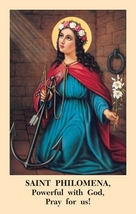 Saint Philomena Novena Prayer Card (5 Packs of 100) - $40.95
