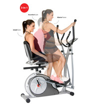 Recumbent Bike With Arm Exercise For Office Home Elliptical Excersize Eq... - $395.99