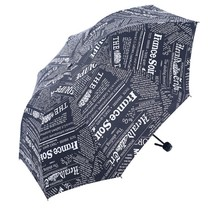 Brand New 3 Folding Umbrella Anti-UV Vinly Woman Large Windproof Commerc... - $18.92