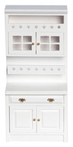 DOLLHOUSE MINIATURES WHITE CABINET WITH SHELVES #T5440 - $17.81