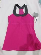 Womens GAP FIT Pink Gray Racerback Workout Top Size XS - $12.99
