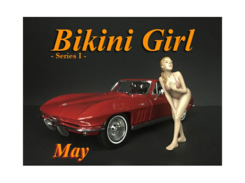 May Bikini Calendar Girl Figure for 1/24 Scale Models by American Diorama