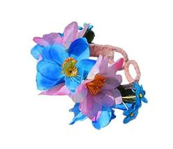 1 Pair Of Special Color Mixture Flowers Beach Bracelets Lace Bracelets Jewelry