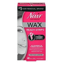 Nair Hair Remover Wax Ready-Strips 40 Count Face/Bikini 2 Pack image 12
