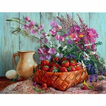 Flower Strawberry 40x50cm DIY Paint By Number Kit Acrylic Painting Linen... - $9.59+