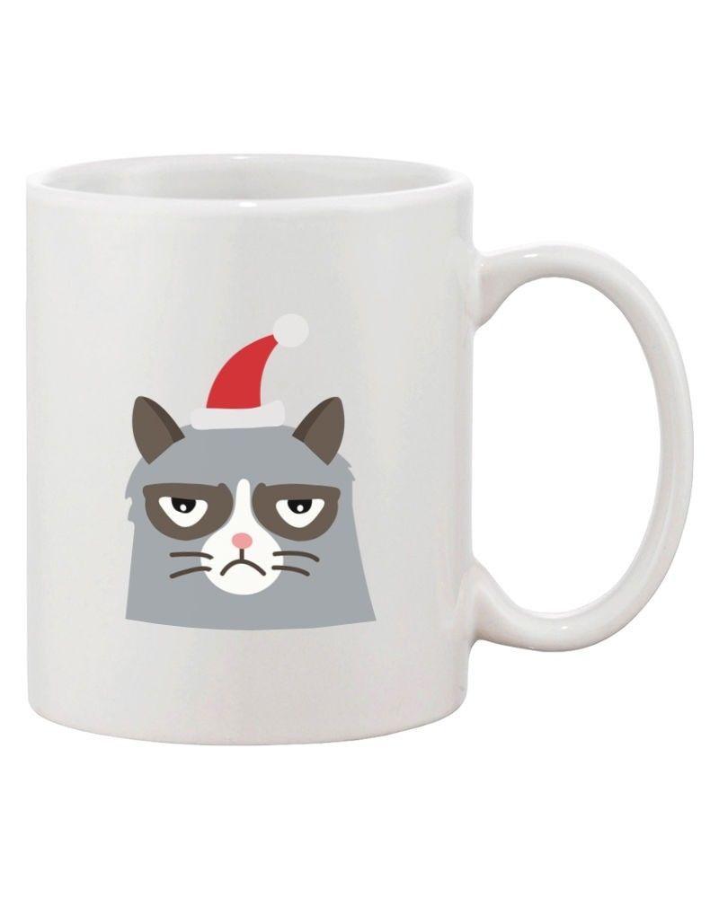 Grumpy Cat Feliz Navidon't Ceramic Coffee Mug - Funny Christmas Mug Cups image 3