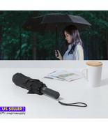 "NEW PREMIUM COMPACT AUTO OPEN/CLOSE UMBRELLA - BLACK 10"" folded length - $26.43"