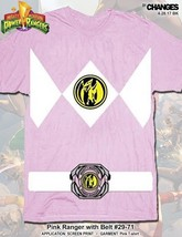 Mighty Morphin Power Rangers Pink Ranger Halloween Superheld Kostüm T-Shirt - $21.01+
