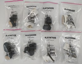 Vintage Playhouse 8 Pair Lot NOS DOLL SHOES Black White - $25.73