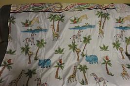 """Child's SAFARI ANIMALS Fabric Shower Curtain 70"""" W X 72"""" L w/Hooks Mains... - $10.22"""