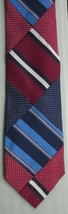 J. Mclaughlin Phenomenal Striped Textured Patchwork Silk Neck Tie Made In Usa - $18.99