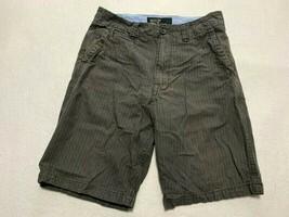 "American Eagle Khaki 30 Gray Pinstripe Shorts Longer Length 11"" Inseam - $9.99"
