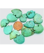 Turquoise Zuni Bear Gemstone Bead Lot of 42 qty - $25.00