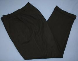 Talbots Petites Stretch Classic Black Dress Pants Sz 10 Wool Blend 10P W... - $27.09