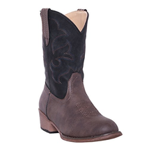 Silver Canyon Children Monterey Kids Western Black and Brown Cowboy Boot... - $76.21