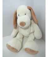 First Impressions plush cream tan brown puppy dog baby soft toy satin bo... - $14.84