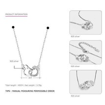 Tardoo Real 925 Sterling Silver Choker Necklaces Pendants Casual Style Love Maxi - $20.99