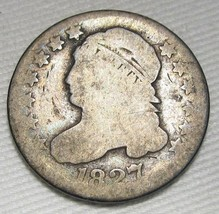 1827 Capped Bust Dime AG Coin Estate Piece AE228 - $24.12