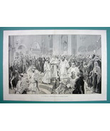 "CHRISTMAS in Holy Land Temple - VICTORIAN Era Print 14.5"" x 22"" - $16.84"