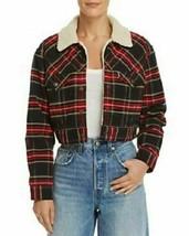 Levi's Ex-boyfriend women's Plaid Cropped Sherpa Corduroy Jacket size La... - $109.35