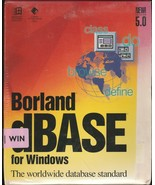 Boreland dBase for Windows Version 5.0 ~ includes 3.5 disks - $99.00