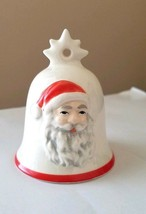 GOEBEL Santa Bell Ornament with Red Trim W Germany MINT RARE Vintage - $17.77