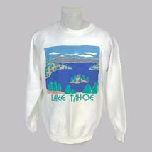 Vintage 1990s Unisex Lake Tahoe California Eyecatcher Puffy 3D Sweatshir... - $28.01