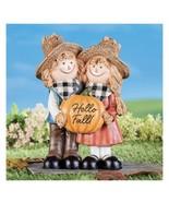 Hello Fall Scarecrow Couple Figure (col) - £57.58 GBP