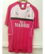 Real Madrid FC Shirt Jersey Football Embroidered Logo Pink XL Extra Larg... - $48.95