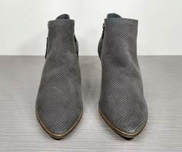 Vince Camuto Nethera Perforated Bootie, Gray Suede, Womens Size 8.5 M / 39 - £11.91 GBP