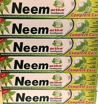 6 Lot 200gram Neem Active Herbal Toothpaste 100% Vegetarian Xxl Usa Seller - $28.00