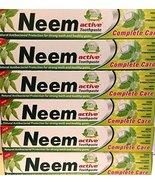 6 LOT 200gram Neem Active HERBAL Toothpaste 100% VEGETARIAN  XXL USA SELLER - $28.00