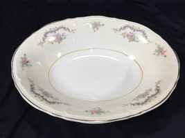 "(1) Edwin Knowles Princess Fine China 9"" Oval Vegetable Bowl Made In USA... - $39.99"